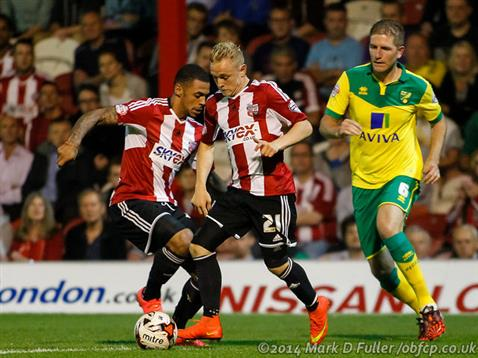Brentford Chirpy Over Canaries Home Draw