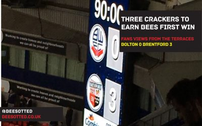Three Crackers Earn Bees First Win: Bolton 0 Brentford 3 (VIDEO)