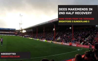 Bees Makemends With Second Half Recovery – Brentford 3 Sunderland 3 (VIDEO)