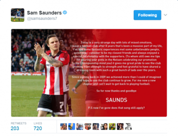 Sam Saunders – Goodbye, Good Luck and Thank You