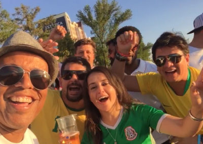 brazil and mexico fans with england