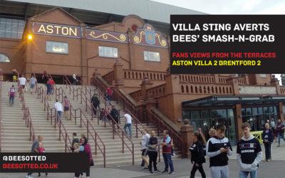 Villa Avert Smash-N-Grab Bees Raid – Aston Villa 2 Brentford 2