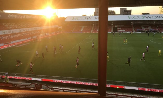 Inside Griffin Park For The Albion Win