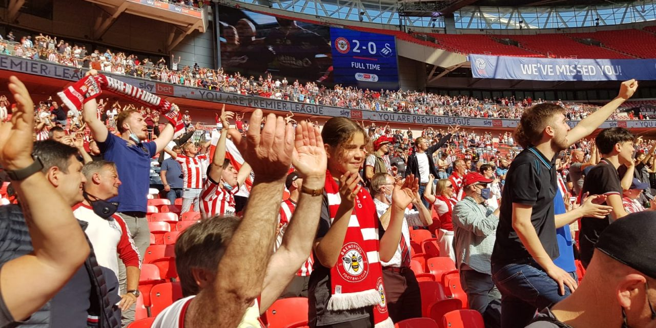 Bees Are Premier League Bound – Post Brentford v Swansea Playoff Final Podcast From Wembley and the Pub